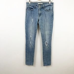 Levi Skinny Distressed Jeans Denim Size 27